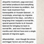 Medical Doctor's Feedback: Migraine Permanently Cured – Homeopathic Treatment by Hussain Kaisrani